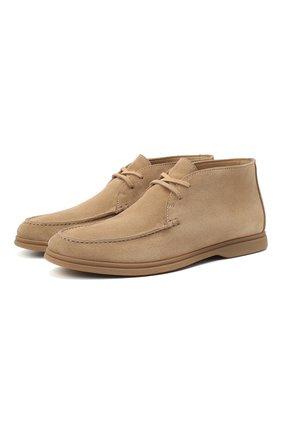 Мужские замшевые ботинки BRUNELLO CUCINELLI бежевого цвета, арт. MZUC0BB857 | Фото 1