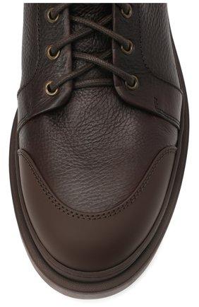 Мужские кожаные ботинки BRUNELLO CUCINELLI темно-коричневого цвета, арт. MZUDGMI886   Фото 5