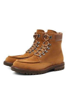 Мужские замшевые ботинки BRUNELLO CUCINELLI светло-коричневого цвета, арт. MZUVECG889 | Фото 1