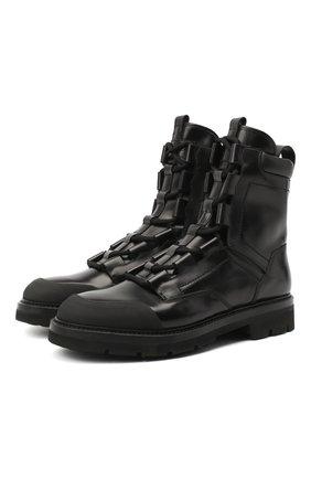 Мужские кожаные ботинки RARE черного цвета, арт. RU3248/SILKNAIL/DIAMANT | Фото 1