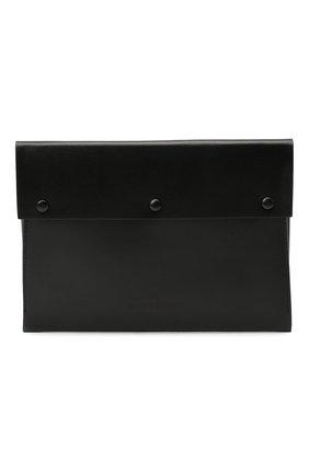 Мужская кожаный футляр для документов BURBERRY черного цвета, арт. 8033864 | Фото 1