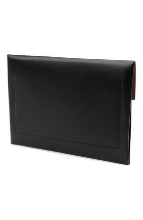 Мужская кожаный футляр для документов BURBERRY черного цвета, арт. 8033864 | Фото 2