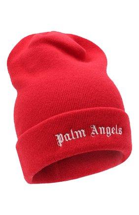 Мужская шерстяная шапка PALM ANGELS красного цвета, арт. PMLC012F20KNI0012501 | Фото 1
