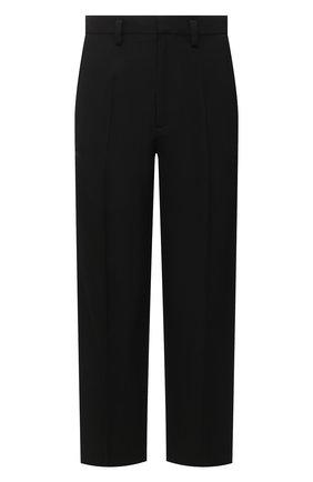 Мужские шерстяные брюки BALENCIAGA черного цвета, арт. 622008/TIT17 | Фото 1