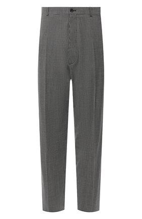 Мужские шерстяные брюки BALENCIAGA серого цвета, арт. 621984/TIT04 | Фото 1
