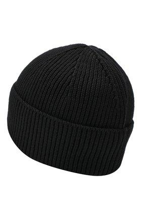 Мужская шерстяная шапка PARAJUMPERS черного цвета, арт. HA12/PLAIN BEANIE | Фото 2