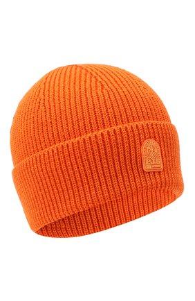 Мужская шерстяная шапка PARAJUMPERS оранжевого цвета, арт. HA12/PLAIN BEANIE | Фото 1