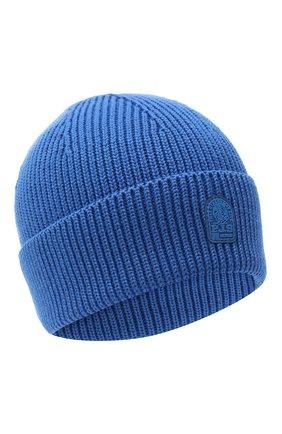 Мужская шерстяная шапка PARAJUMPERS синего цвета, арт. HA12/PLAIN BEANIE | Фото 1