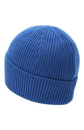 Мужская шерстяная шапка PARAJUMPERS синего цвета, арт. HA12/PLAIN BEANIE | Фото 2