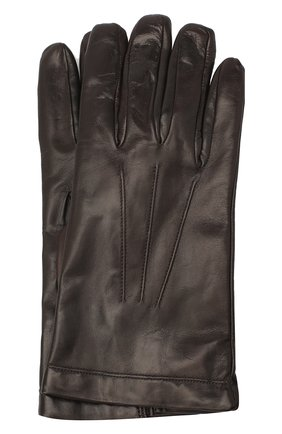 Мужские кожаные перчатки MORESCHI коричневого цвета, арт. SIBERIA/NAPPA | Фото 1