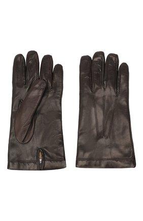Мужские кожаные перчатки MORESCHI коричневого цвета, арт. SIBERIA/NAPPA | Фото 2