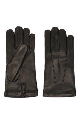 Мужские кожаные перчатки MORESCHI черного цвета, арт. SIBERIA/NAPPA | Фото 2