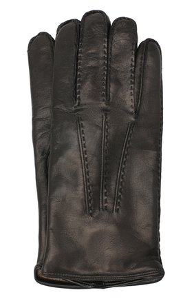 Мужские кожаные перчатки MORESCHI черного цвета, арт. CANADA/NAPPA | Фото 1