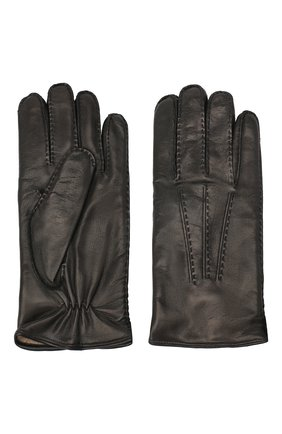 Мужские кожаные перчатки MORESCHI черного цвета, арт. CANADA/NAPPA | Фото 2