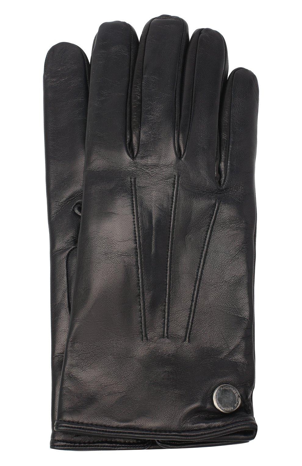 Мужские кожаные перчатки MORESCHI темно-синего цвета, арт. 064U/NAPPA | Фото 1