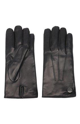 Мужские кожаные перчатки MORESCHI темно-синего цвета, арт. 064U/NAPPA | Фото 2