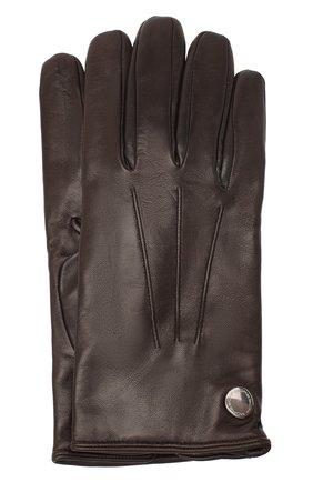 Мужские кожаные перчатки MORESCHI коричневого цвета, арт. 064U/NAPPA | Фото 1