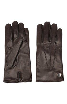 Мужские кожаные перчатки MORESCHI коричневого цвета, арт. 064U/NAPPA | Фото 2