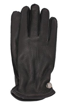 Мужские кожаные перчатки MORESCHI темно-синего цвета, арт. 062U/CERV0 | Фото 1
