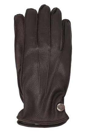 Мужские кожаные перчатки MORESCHI коричневого цвета, арт. 062U/CERV0 | Фото 1