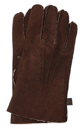 Мужские кожаные перчатки MORESCHI коричневого цвета, арт. 059U/SHEARLING | Фото 1