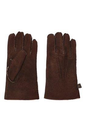 Мужские кожаные перчатки MORESCHI коричневого цвета, арт. 059U/SHEARLING | Фото 2