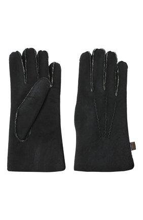 Мужские кожаные перчатки MORESCHI черного цвета, арт. 059U/SHEARLING | Фото 2