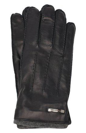 Мужские кожаные перчатки MORESCHI темно-синего цвета, арт. 055U/NAPPA | Фото 1