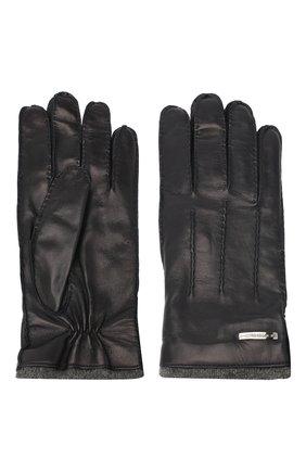 Мужские кожаные перчатки MORESCHI темно-синего цвета, арт. 055U/NAPPA | Фото 2