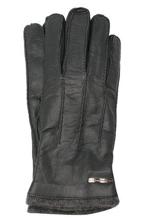 Мужские кожаные перчатки MORESCHI темно-серого цвета, арт. 055U/NAPPA | Фото 1