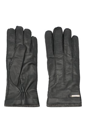 Мужские кожаные перчатки MORESCHI темно-серого цвета, арт. 055U/NAPPA | Фото 2