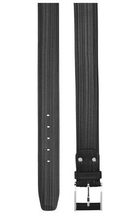 Мужской кожаный ремень ZILLI черного цвета, арт. MJL-CLAQE-01979/0232 | Фото 2