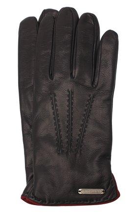 Мужские кожаные перчатки CORNELIANI синего цвета, арт. 86Q338-0820575/00 | Фото 1