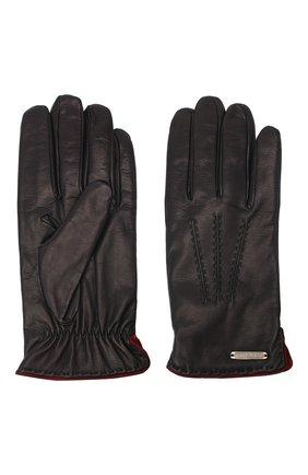 Мужские кожаные перчатки CORNELIANI синего цвета, арт. 86Q338-0820575/00 | Фото 2