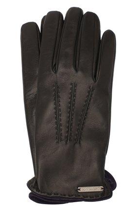 Мужские кожаные перчатки CORNELIANI черного цвета, арт. 86Q338-0820575/00 | Фото 1