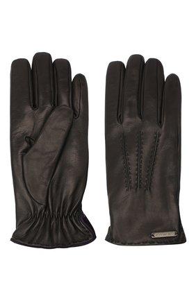 Мужские кожаные перчатки CORNELIANI черного цвета, арт. 86Q338-0820575/00 | Фото 2