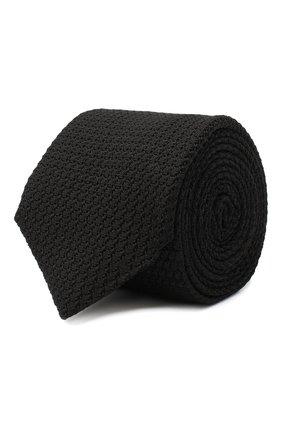 Мужской шелковый галстук CORNELIANI черного цвета, арт. 86U306-0820306/00   Фото 1