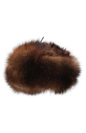 Мужская шапка из меха фишера FURLAND коричневого цвета, арт. 0012210310001300007 | Фото 2