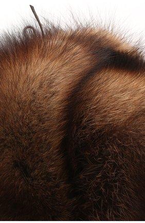 Мужская шапка из меха фишера FURLAND коричневого цвета, арт. 0012210310001300007 | Фото 3