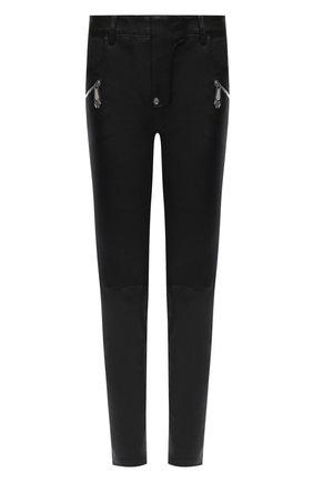 Женские кожаные брюки PHILIPP PLEIN черного цвета, арт. F20C WLT0080 PLE010N | Фото 1
