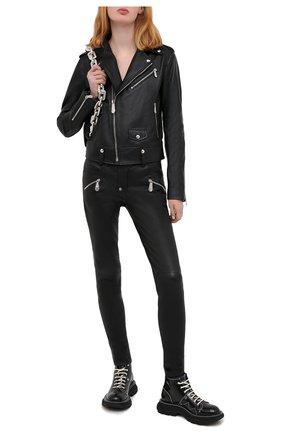 Женские кожаные брюки PHILIPP PLEIN черного цвета, арт. F20C WLT0080 PLE010N | Фото 2