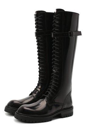 Женские кожаные сапоги ANN DEMEULEMEESTER черного цвета, арт. 2014-2830-386-099 | Фото 1