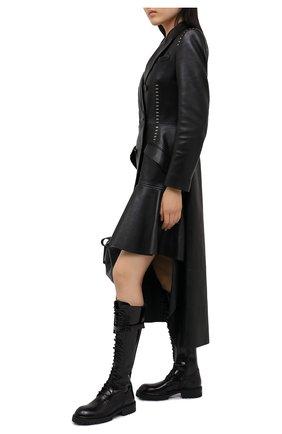 Женские кожаные сапоги ANN DEMEULEMEESTER черного цвета, арт. 2014-2830-386-099 | Фото 2