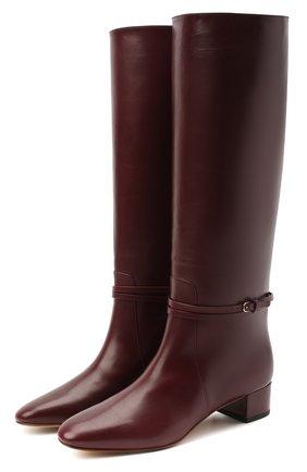 Женские кожаные сапоги FRANCESCO RUSSO бордового цвета, арт. FR35022A/12003 | Фото 1