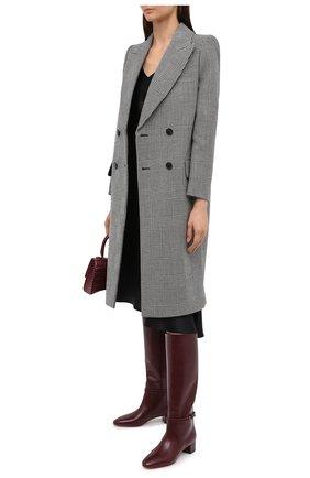 Женские кожаные сапоги FRANCESCO RUSSO бордового цвета, арт. FR35022A/12003 | Фото 2