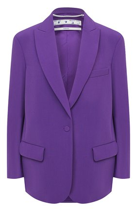 Женский жакет OFF-WHITE фиолетового цвета, арт. 0WEF032E20FAB0013500 | Фото 1