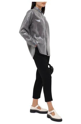 Женская рубашка с пайетками POLO RALPH LAUREN серого цвета, арт. 211815385   Фото 2