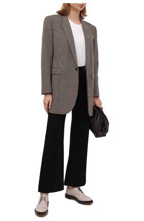 Женская кожаные дерби BRUNELLO CUCINELLI кремвого цвета, арт. MZPRC1904   Фото 2