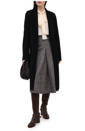 Женские кожаные сапоги DOLCE & GABBANA коричневого цвета, арт. CU0680/AW673   Фото 2