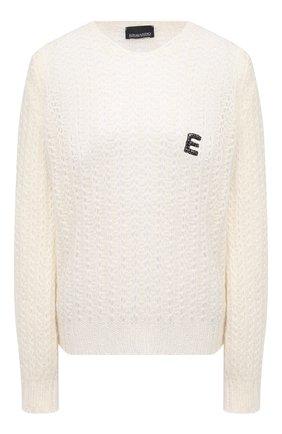 Женский шерстяной свитер ERMANNO ERMANNO SCERVINO белого цвета, арт. 47T MG25 QUE   Фото 1